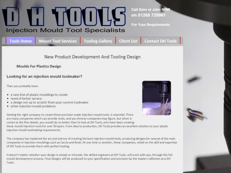 mould tool engineering website screenshot